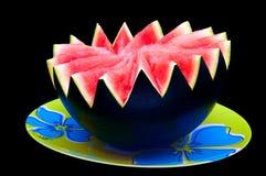 Wassermelone auf der Platte 02 stockfotografie