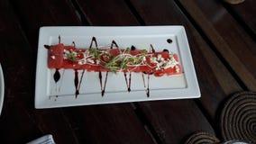 Wassermelone carpaccio stockfotografie