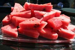Wassermelone in den Stücken Lizenzfreies Stockbild