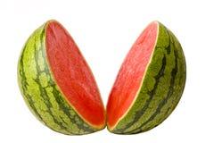 Wassermelone geschnitten in zwei Stockfotos
