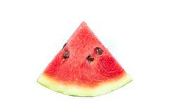 Wassermelone getrennt auf weißem Hintergrund Stockfotografie