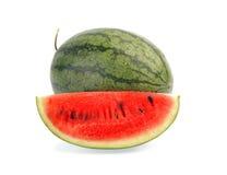 Wassermelone getrennt auf weißem Hintergrund Lizenzfreies Stockbild