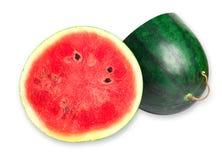 Wassermelone islice solated auf Weiß Stockfotos
