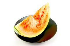 Wassermelone mit Bissen-Markierung Lizenzfreie Stockbilder