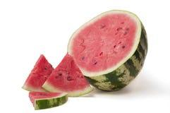 Wassermelone mit Rollen Lizenzfreies Stockfoto