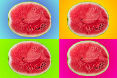 Wassermelone, Pop-Arten-Art Stockfotos