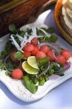 Wassermelone-Salat Stockfotografie