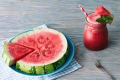 Wassermelone Smoothie stockfoto