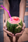 Wassermelone Smoothie lizenzfreies stockfoto