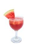 Wassermelone Smoothie auf weißem Hintergrund lizenzfreie stockfotos