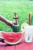 Wassermelone, Smoothie und Limonade Lizenzfreie Stockfotografie