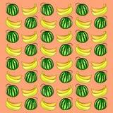 Wassermelone und Banane Lizenzfreie Stockfotografie