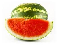 Wassermelone und eine Scheibe der Wassermelone Stockfotografie