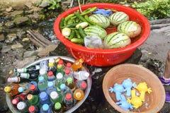 Wassermelone und Getränk Lizenzfreie Stockbilder