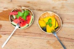 Wassermelone und Kürbis lizenzfreie stockfotografie