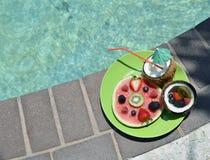 Wassermelone und Kokosnüsse Stockbild