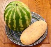 Wassermelone und Melone Stockfotos