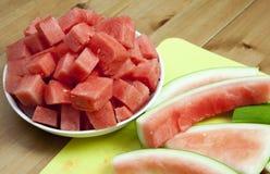Wassermelone und Rinde stockfotos