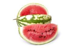 Wassermelone und Scheibe der Wassermelone lizenzfreies stockfoto