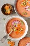 Wassermelone und Tomate Gazpacho Lizenzfreie Stockfotografie