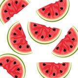 Wassermelonehintergrund getrennt Stockfotografie