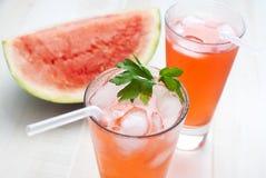 Wassermelonelocher Stockbild