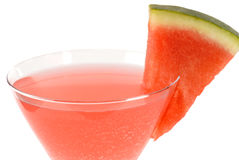 Wassermelonemartini-Cocktail stockfotografie