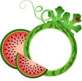 Wassermelonen-Foto-Rahmen Lizenzfreie Stockfotos
