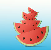 Wassermelonen-Hintergrund Stockbilder