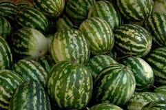 Wassermelonen am Markt, Moulay Idriss Zerhoun, Marokko Stockbilder