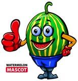 Wassermelonen-Maskottchen Stockfotografie