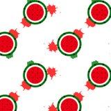 Wassermelonen mit dem Spritzen der Wassertinte, Geometrie kreatives patte vektor abbildung