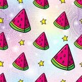 Wassermelonen-nahtloser Muster-Hintergrund Stockfotografie