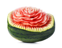 Wassermelonen-Schnitzen Stockfoto