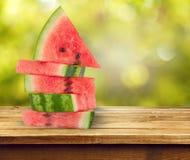 Wassermelonen-Stapel stockfotos