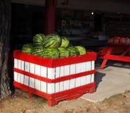 Wassermelonen-Straßenrand Lizenzfreie Stockfotos