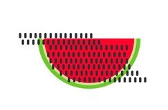 Wassermelonen-Vektor Der rote Samen ist der Inhalt Köstliche Nahrung vektor abbildung