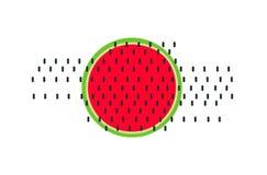 Wassermelonen-Vektor Der rote Samen ist der Inhalt Köstliche Nahrung stock abbildung