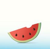 Wassermelonenbisshintergrund Lizenzfreie Stockfotografie