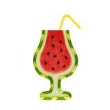 Wassermelonencocktail (tropisches Getränk des kreativen neuen Sommers oder Cocktailparty) Lizenzfreies Stockfoto