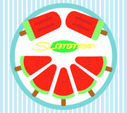 WassermelonenEiscreme Lizenzfreies Stockbild