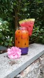 Wassermelonengetränk stockfotografie