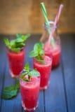 Wassermelonengetränk mit Minze Lizenzfreies Stockfoto