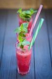 Wassermelonengetränk mit Minze Lizenzfreie Stockfotografie