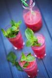 Wassermelonengetränk mit Minze Stockbilder
