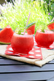 Wassermelonengetränke lizenzfreie stockfotografie
