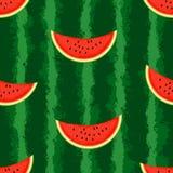 Wassermelonenhintergrund Nahtlos, endlos Lizenzfreie Stockfotografie