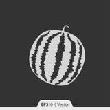 Wassermelonenikone für Netz und Mobile Stockbild