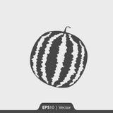 Wassermelonenikone für Netz und Mobile Lizenzfreies Stockfoto