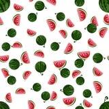 Wassermelonenmuster Auch im corel abgehobenen Betrag Stockfoto